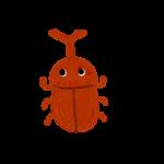 クレヨン風のかわいいカブトムシのフリーイラスト商用利用可能