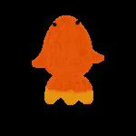 クレヨン風のかわいい赤い金魚のフリーイラスト商用利用可能