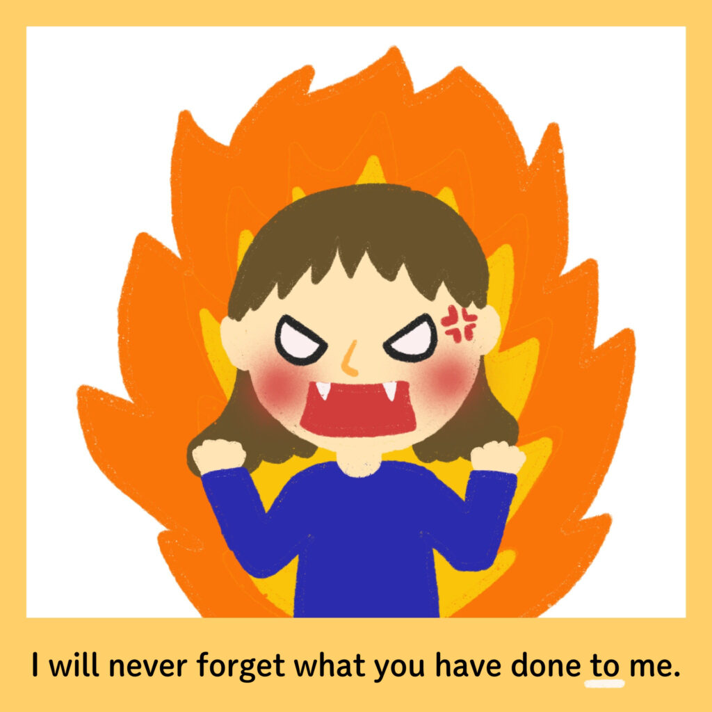 I will never forget what you have done to meのイメージ