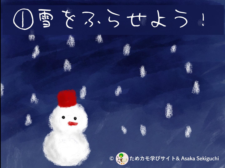 フィンガーペイントアートプリント『雪を描こう!』