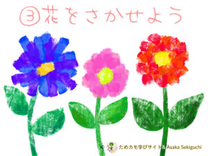 フィンガーペイントアートプリント『花を描こう』
