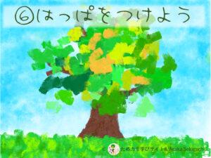フィンガーペイントアートプリント『葉っぱを描こう!』