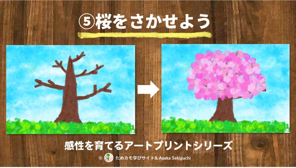 フィンガーペイントアートプリント『桜を咲かせよう』